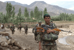 Afghan soldiers on patrol with U.S. soldiers; picture for decorative purposes only.