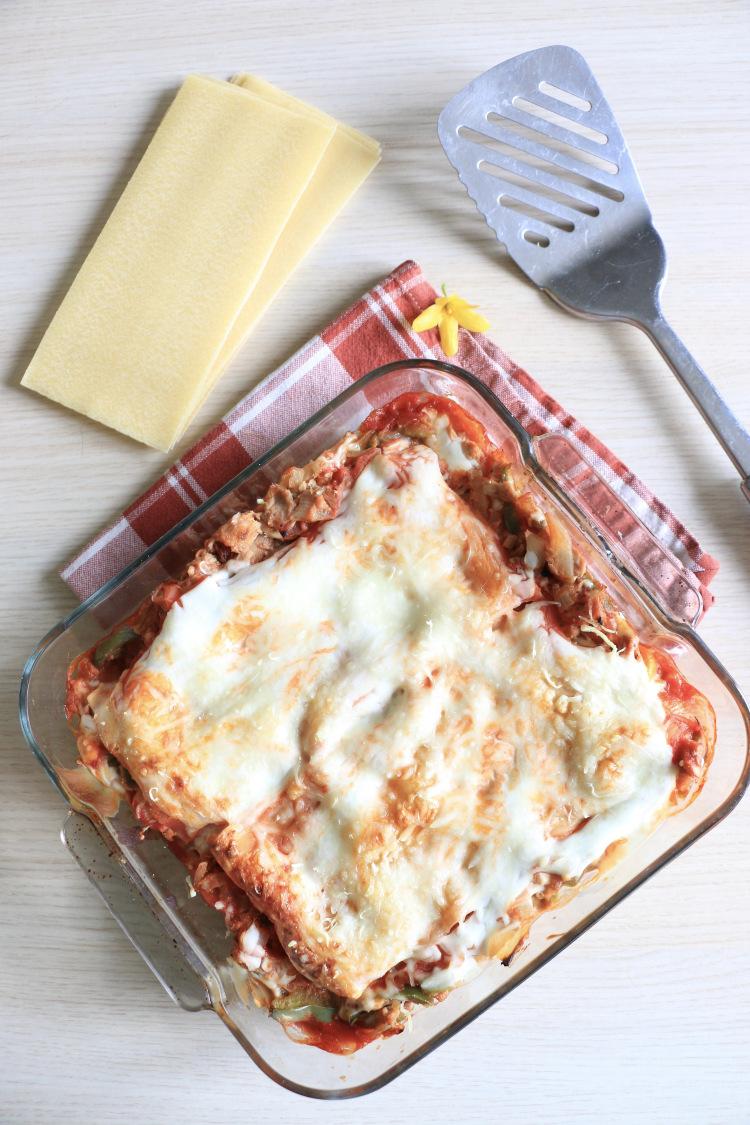 lasagnes au thon et poivrons