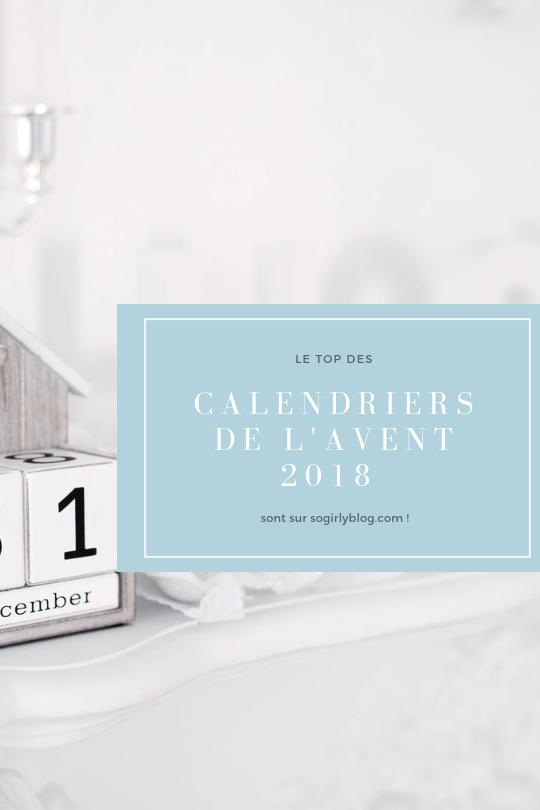 calendrier de l'avent 2018