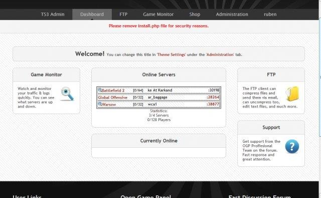 Install OpenGamePanel Agent [ Debian ] + Server