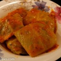 Fylte kålblader med kjøttdeig, ris og urter (dolme)