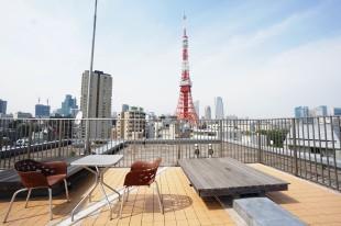 【募集終了】東京タワービュー、ビル最上階のSOHO空間