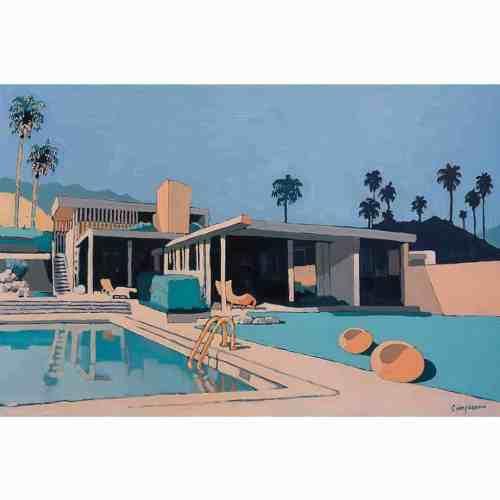 Gino Campagnaro- AUSTRALIAN ARTIST- ORIGINAL ARTWORKS AND PAINTINGS poolside sydney art