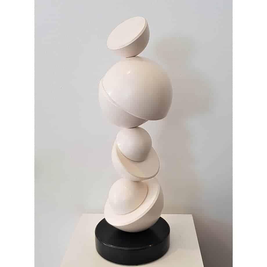 Mezza-Tonda--CERAMIC-TOTEM-[ceramic,table-top]-walter-auer--australian-sculpture