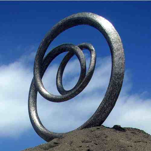 Cyclical-170x170x50cm-STAINLESS-STEEL--[Stainless-steel,Outdoor,Free-standing,Landmark]-CHEN-australian-sculpture-large-twisted-sphere