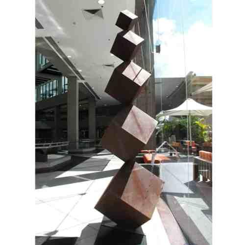 Reflections-310x80cm-CORTEN-[Corten,-outdoor,-landmark]-Pierre-Le-Roux-australian--sculpture-outdoor-garden-cubes