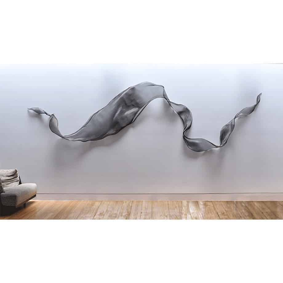 Untitled-Mesh--Medium--FORMED-STAINLESS-STEEL-MESH-[stainless-steel,wall-hanging]-MIKE-BAIRD-australian-fabric-flowing-sculpture