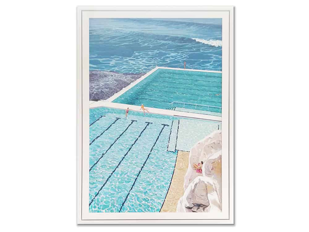 Relaxing-Poolside-original-canvas-artwork-allen-ankins133x95cm