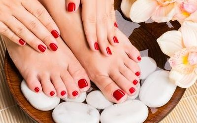 Nail Services Soho Salon Vancouver Kitsilano Red Gold Prof Boutique Pedicure Form