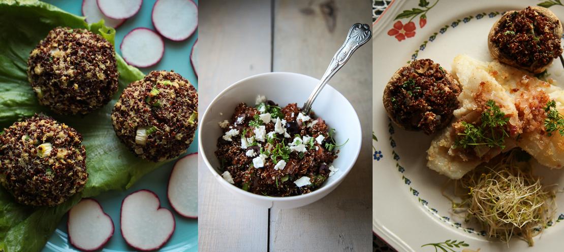 Šta sve možete da napravite od kinoe (Ćuftete, Mediteranska salata i Punjeni šampinjoni)