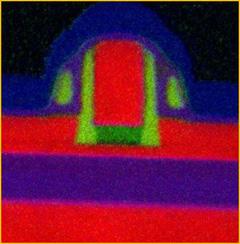 TEM cross-section of FDSOI transistor (Courtesy of STMicroelectonics)