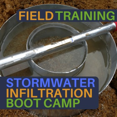 stormwater infiltration boot camp