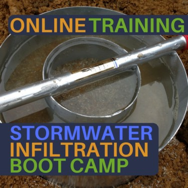 stormwater infiltration boot camp online
