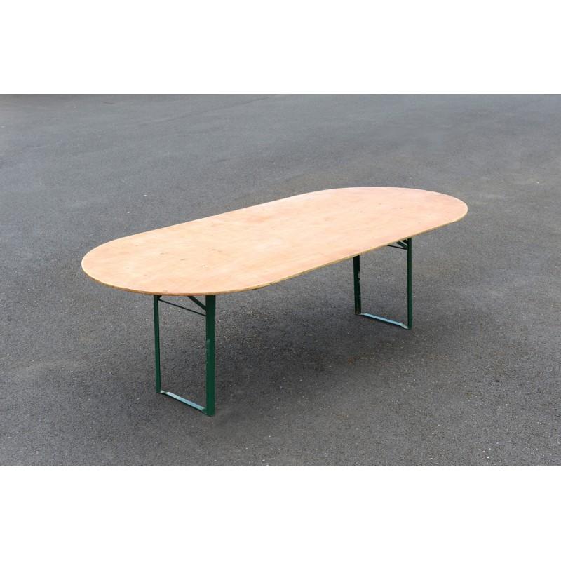 table honneur ovale 5m x 1m15