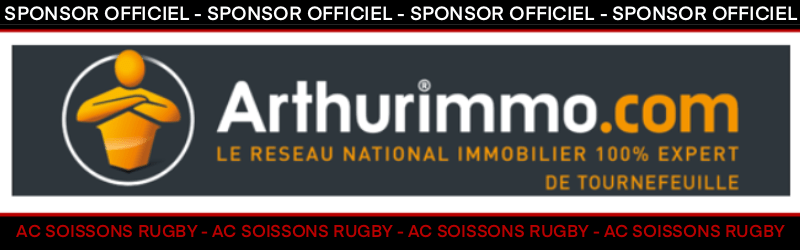 ARTHURIMMO SPOnSOR OFFICIEL AC SOISSONS RUGBY