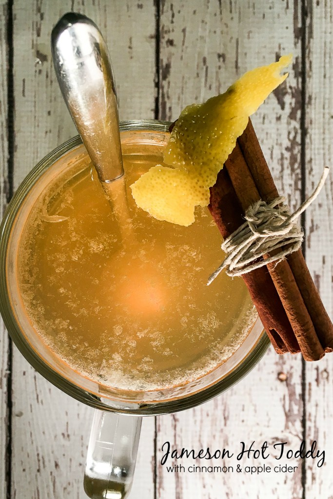 Jameson Hot Toddy with Cinnamon Apple Cider Simple Syrup
