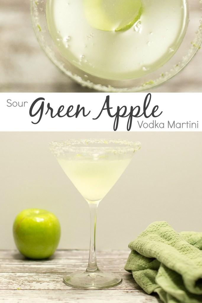 Sour Green Apple Vodka Martini