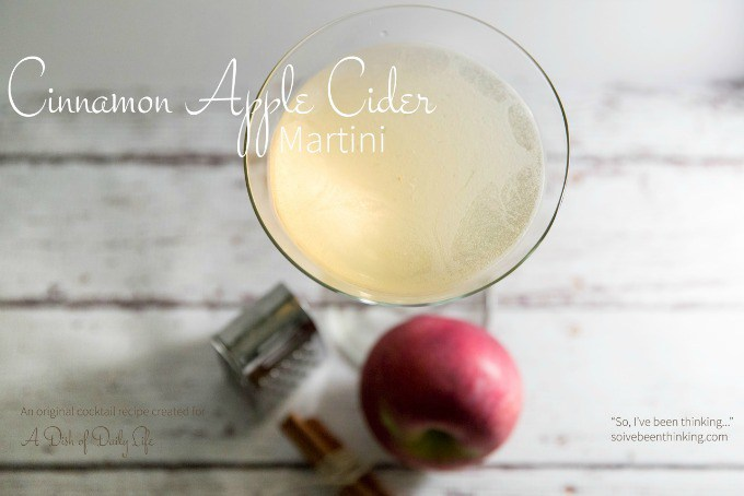 Cinnamon Apple Cider Martini