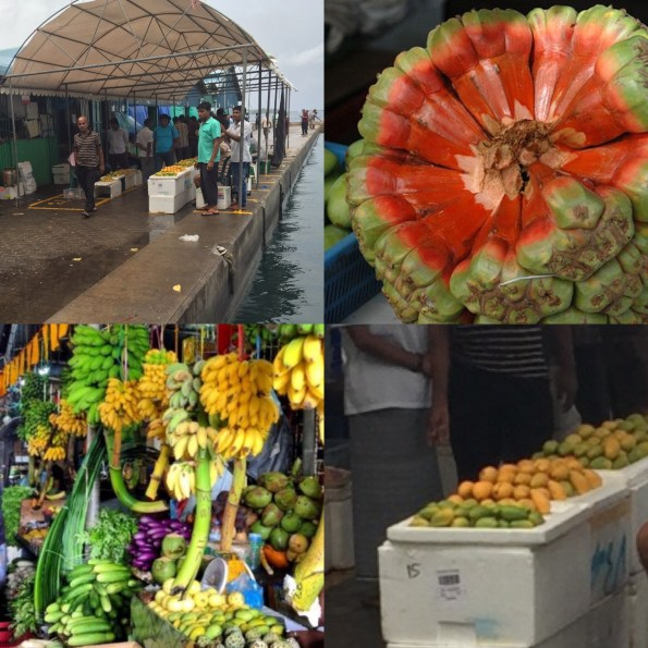 The fruit market - a crowded, damp place but do venture in and try all the delicious exotic fruits and local delicacies like the one made of coconut and palm sugar which they call the Maldivian chocolate