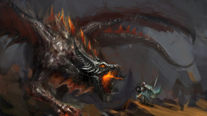 Image result for knight slaying dragon