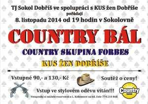 Plakát Countrybál - 20141108 Dobříš