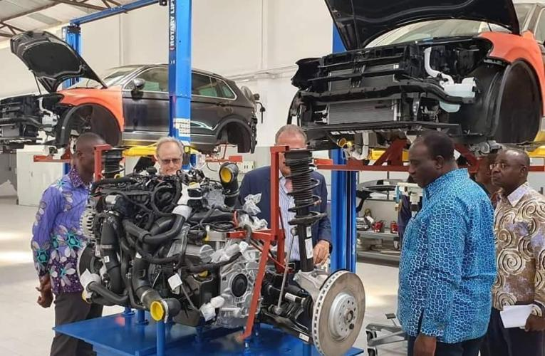 PHOTOS: Trade Minister tours Volkswagen assembly site in Accra
