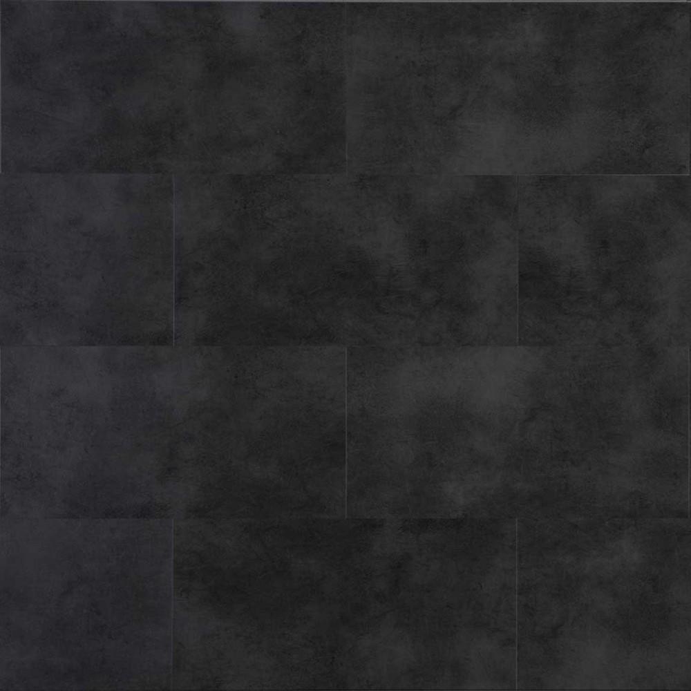 dalle pvc clipsable pierre anthracite avec sous couche acoustique