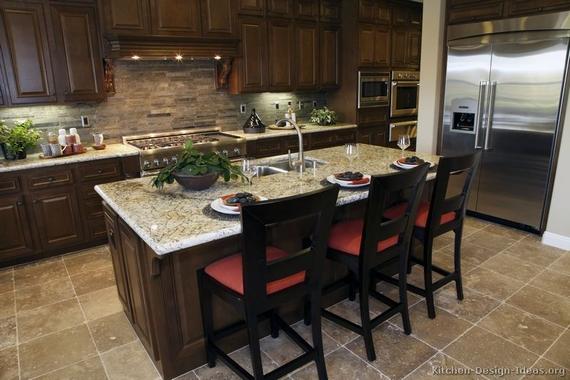 Colonial White Granite Dark Cabinets Backsplash Ideas on Backsplash For Maple Cabinets And Black Granite  id=55168