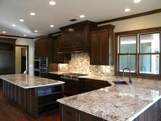 Colonial White Granite Dark Cabinets Backsplash Ideas on Backsplash Ideas For Black Granite Countertops And Cherry Cabinets  id=47076