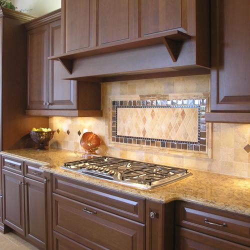 Santa Cecilia Granite with Dark Cabinets Backsplash Ideas on Backsplash With Dark Granite  id=83492