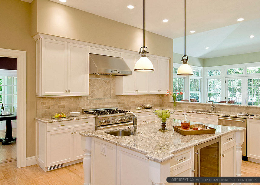 Giallo Napoli Granite White Cabinets Backsplash Ideas on Backsplash Ideas For White Cabinets And Granite Countertops  id=17281