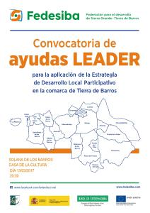Cartel convocatoria LEADER FEDESIBA 2017 solana1