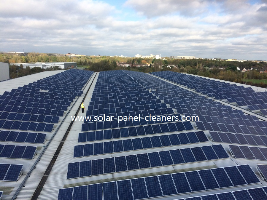 2019 Solar Panels Cleaned For Staples, Corby, Northamptonshire