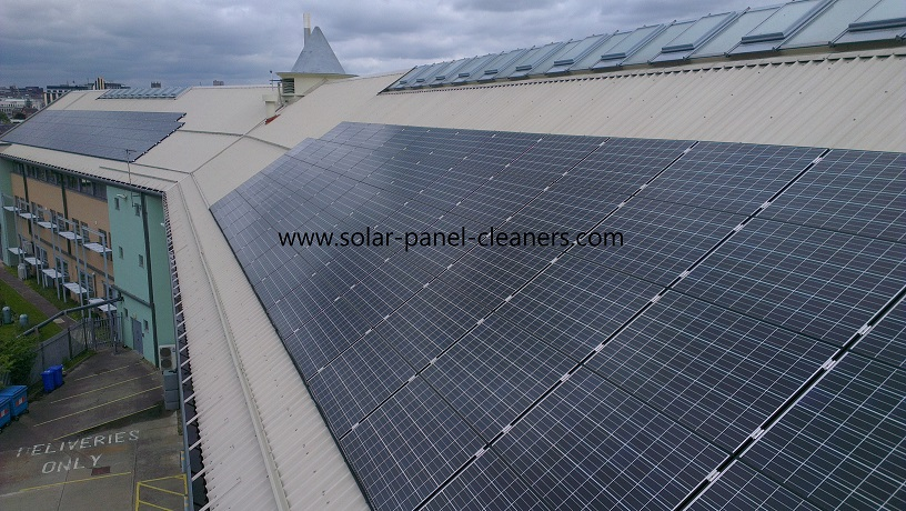 Solar Panel Cleaning Complete For Environmental Agency, Nottingham