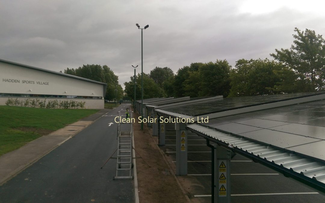 UK's Biggest Solar Carport Cleaned By Clean Solar Solutions