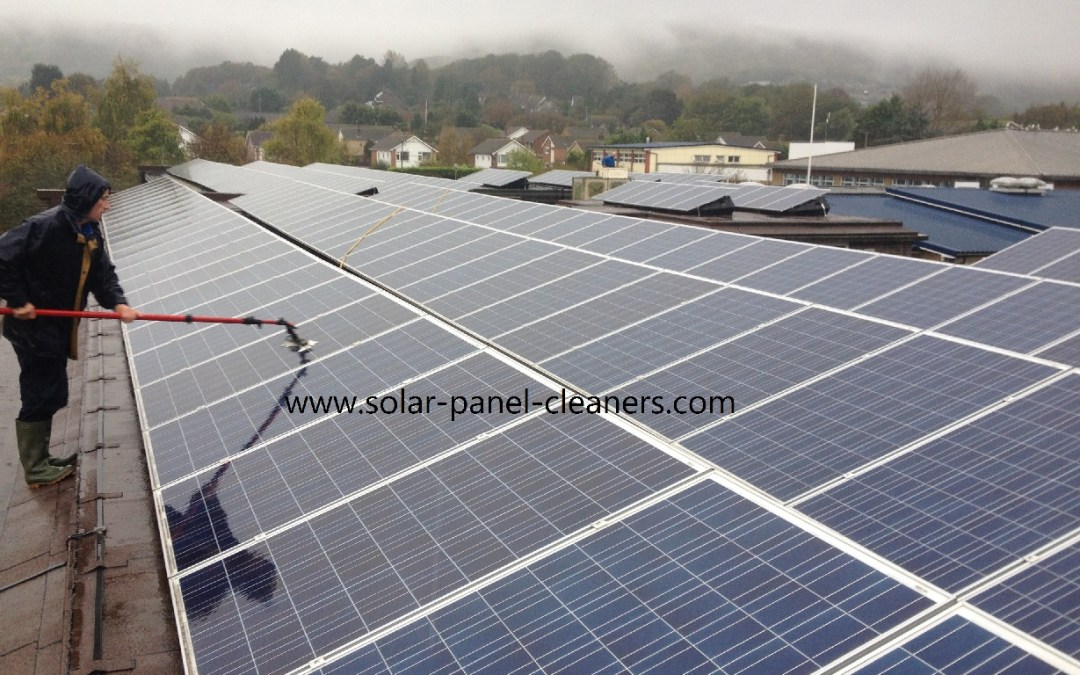 Solar Panel Cleaning On 6 Eastbourne Schools Completed