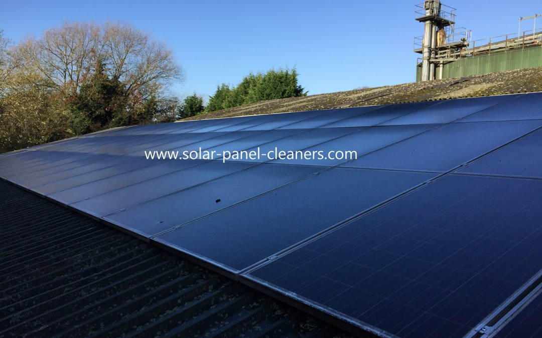 Commercial Solar Panel Cleaning At Holmes Chapel, Cheshire