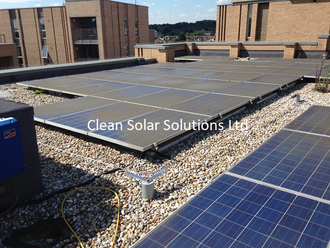 High Rise Solar Panel Cleaning Completed In Bromley