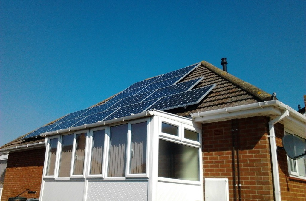 Solar Panel Cleaning Completed Exmouth, Devon.