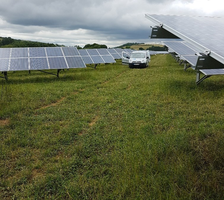 Solar Farm Cleaning Completed Near Exeter