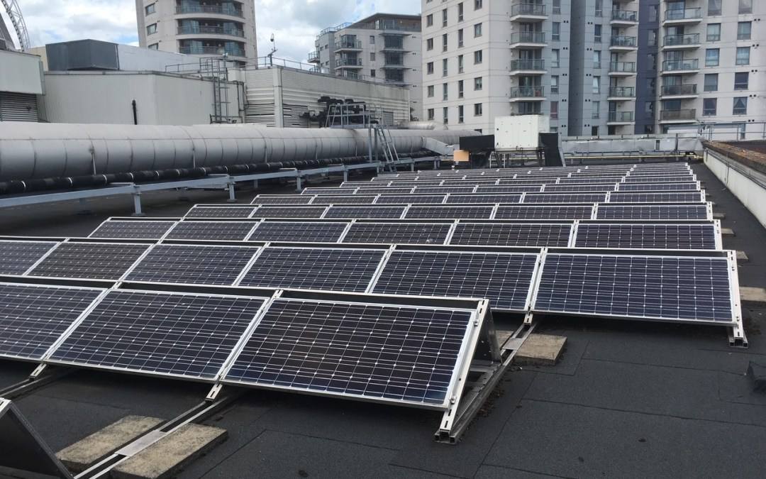 Solar Panel Cleaning Completed On Romford Shopping Centre