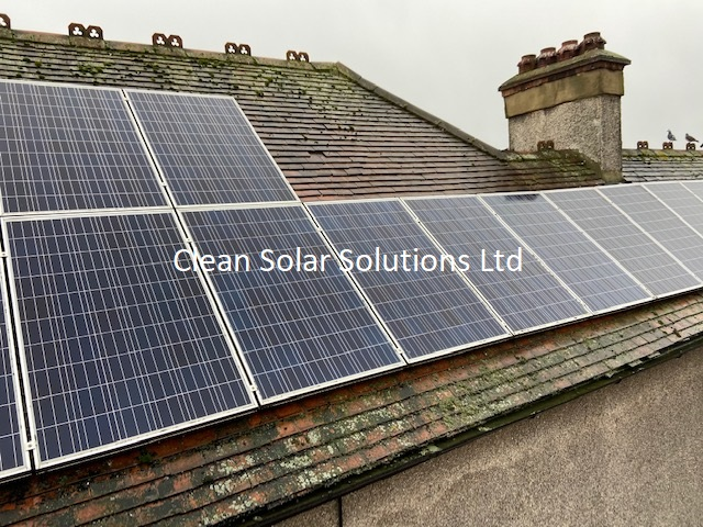 Cleaned solar panels in Wembley