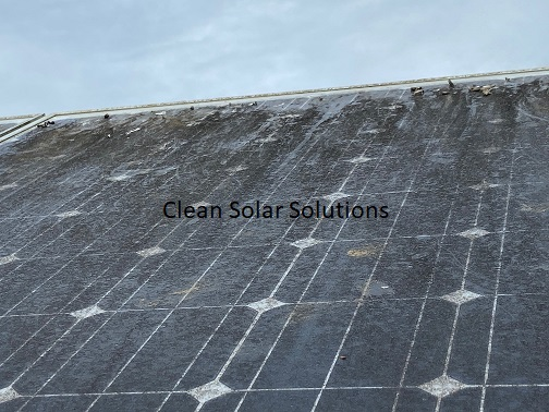 Solar panels in Wadebridge that need cleaning