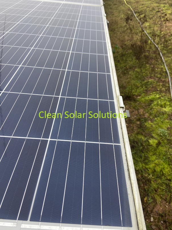 Solar panel after cleaning in Worksop