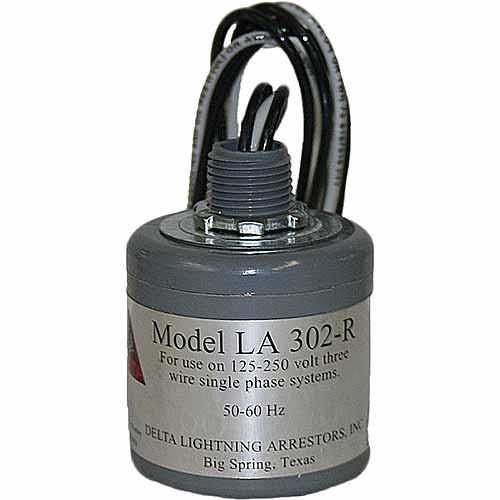 Delta LA 302R AC Lightning Arrestor, 3 Wire, Single Phase