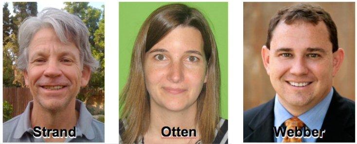 Chris Strand, Heather Otten, Dr. Michael Webber