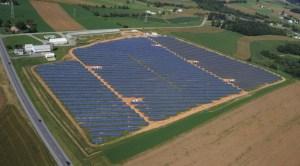 Utility scale solar farm in Pennsylvania
