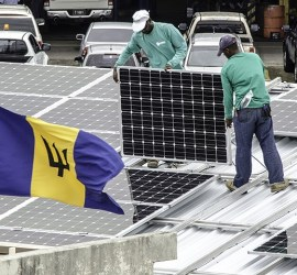 Solar installation in Barbados