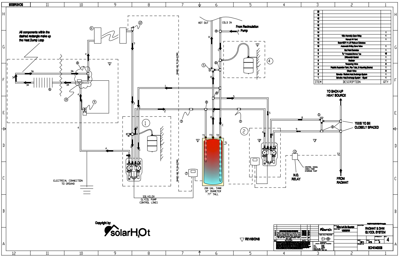 Hot Water Heat Piping Diagrams