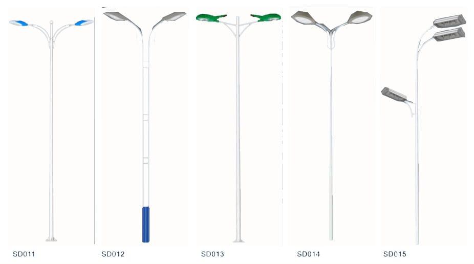 Pole design 5 white - Solar Pole Lights